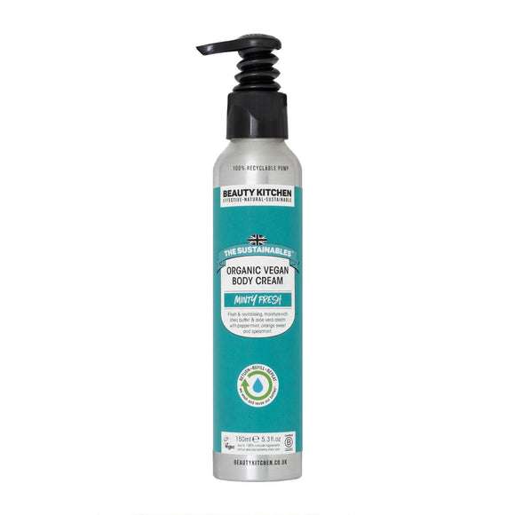 Beauty Kitchen Minty Fresh Organic All-Over Lotion 150ml