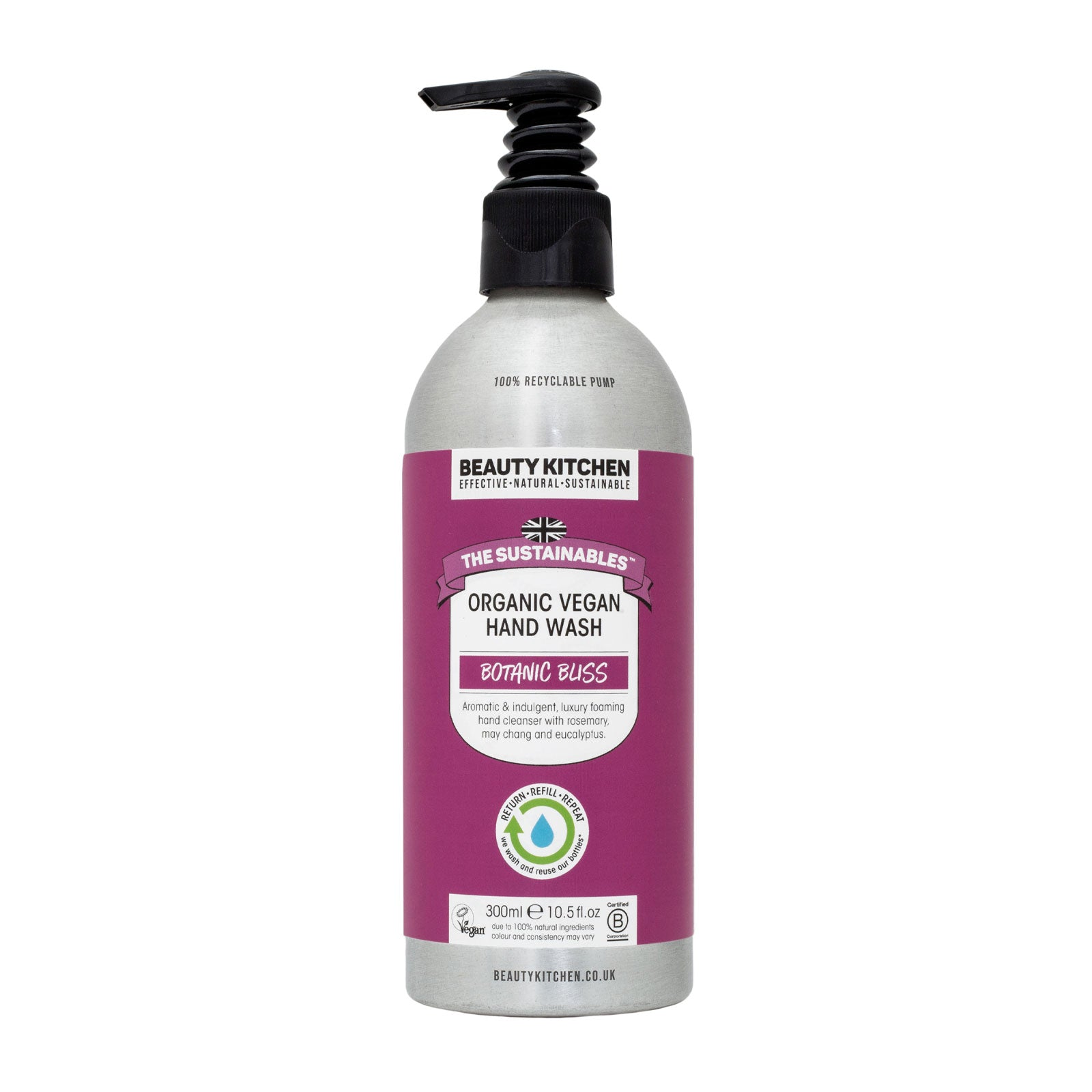 Beauty Kitchen The Sustainables Botanic Bliss Organic Vegan Hand Wash 300ml