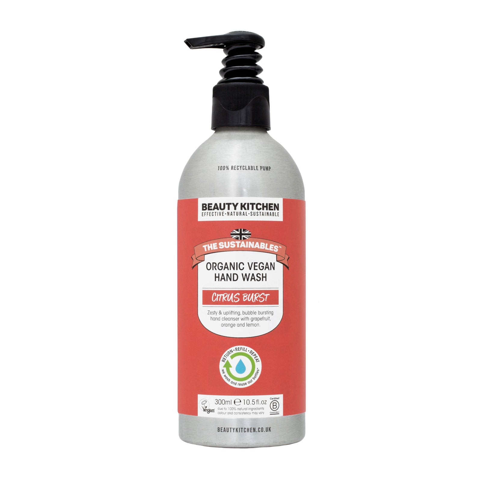 Beauty Kitchen The Sustainables Citrus Burst Organic Vegan Hand Wash 300ml