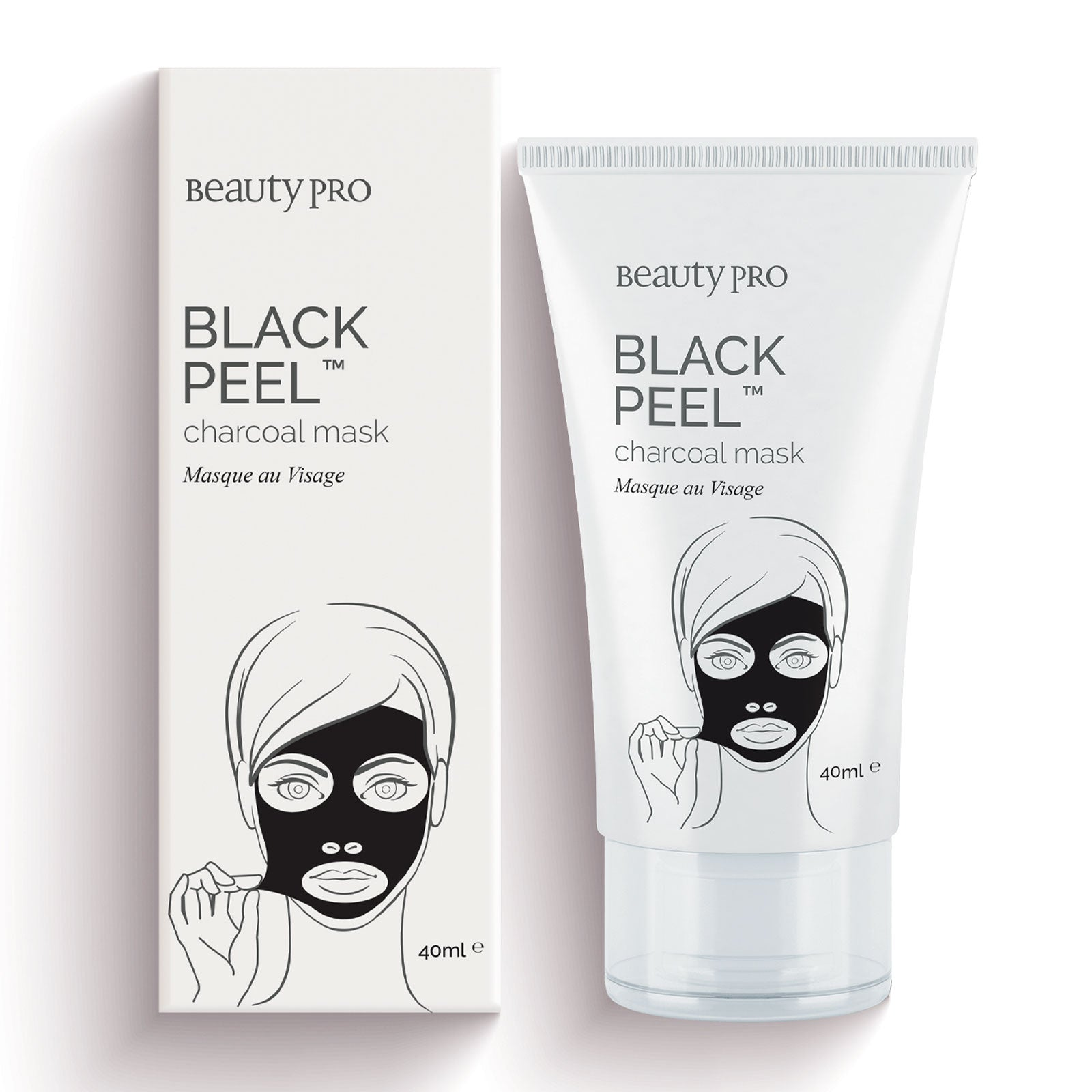 BeautyPro BLACK PEEL™ Mask with Activated Charcoal 40ml