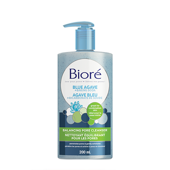 Biore Blue Agave & Baking Soda Pore Balancing Cleanser 200ml