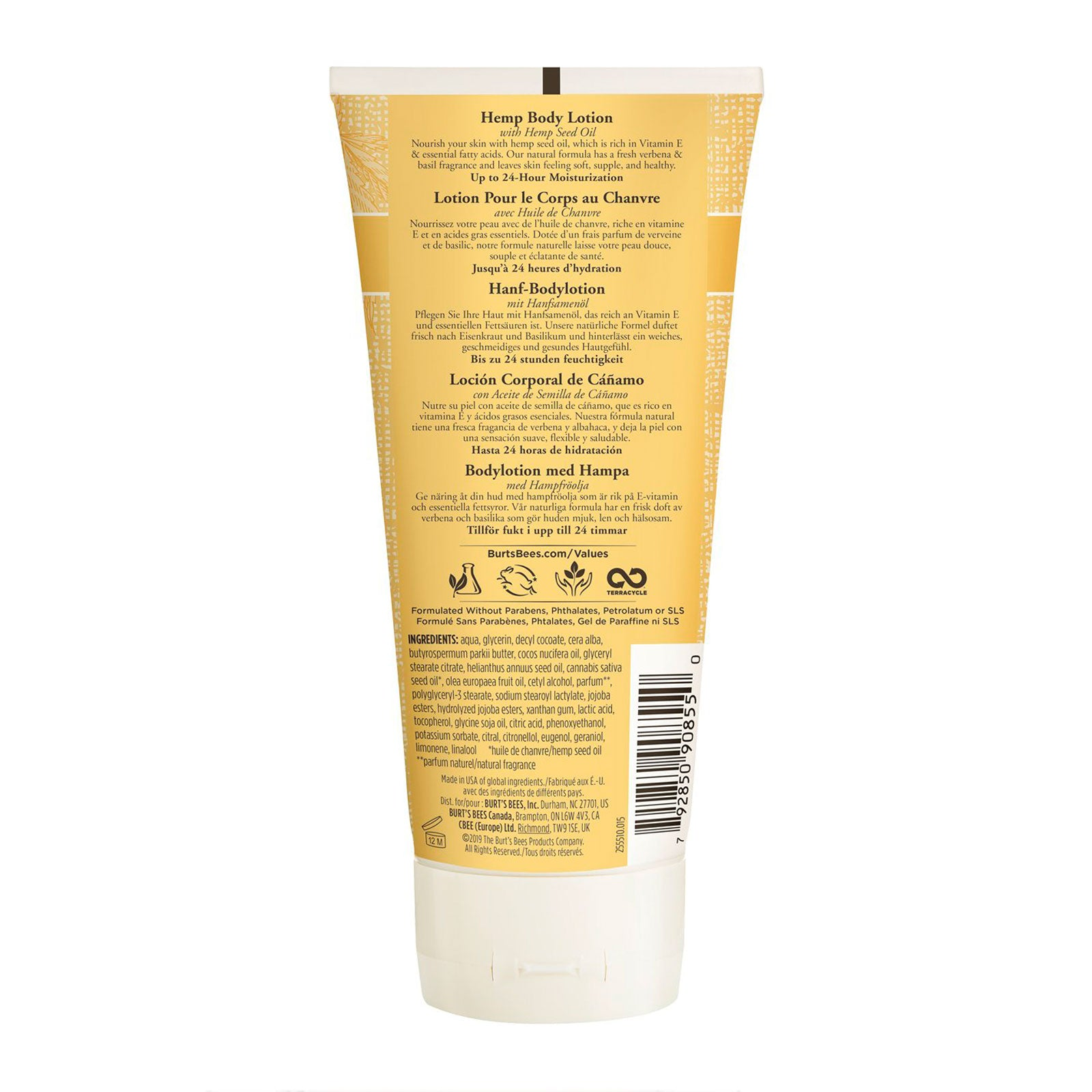 Burt's Bees® Hemp Body Lotion with Hemp Seed Oil for Dry Skin 170g