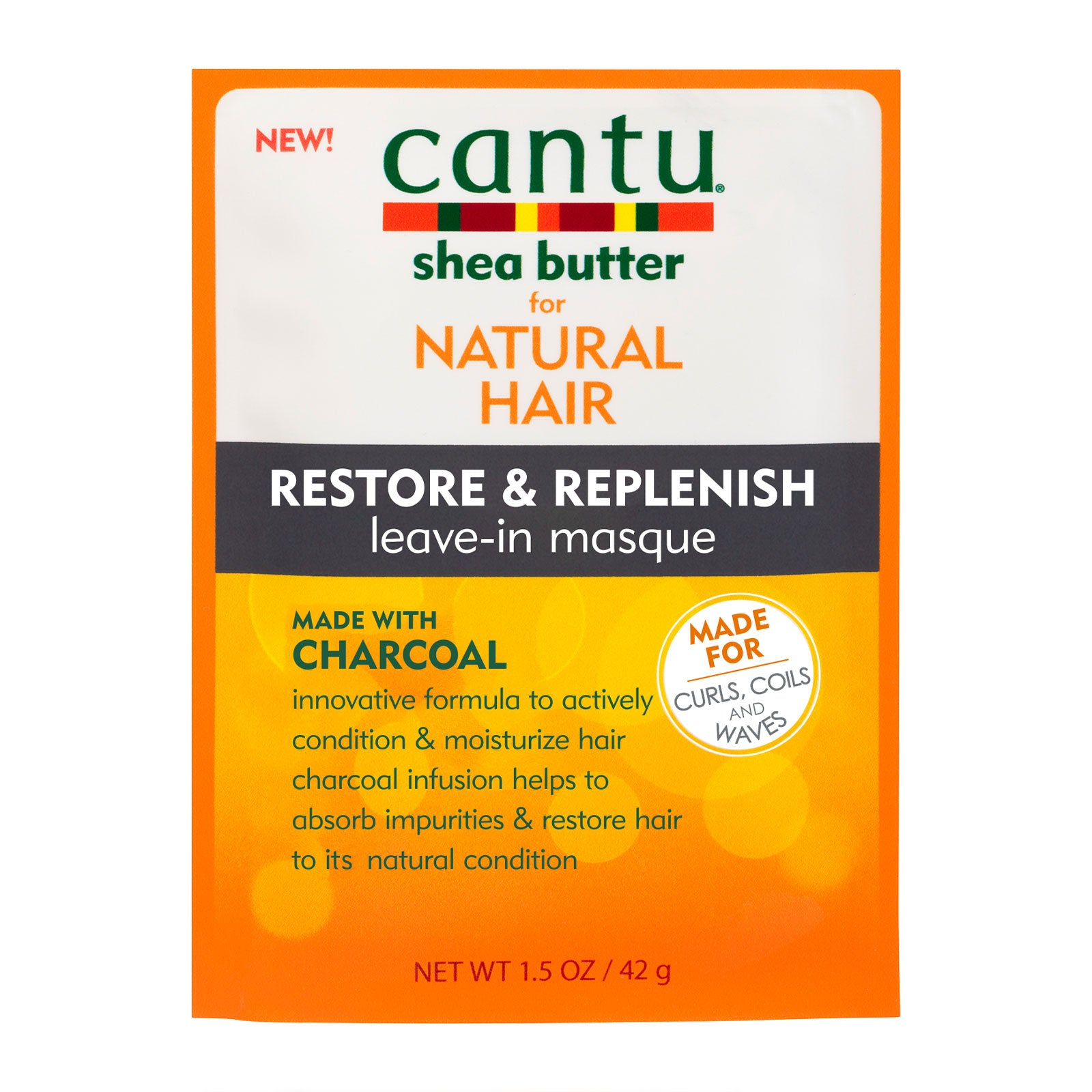 Cantu Restore & Replenish Leave-in Masque with Charcoal 50g