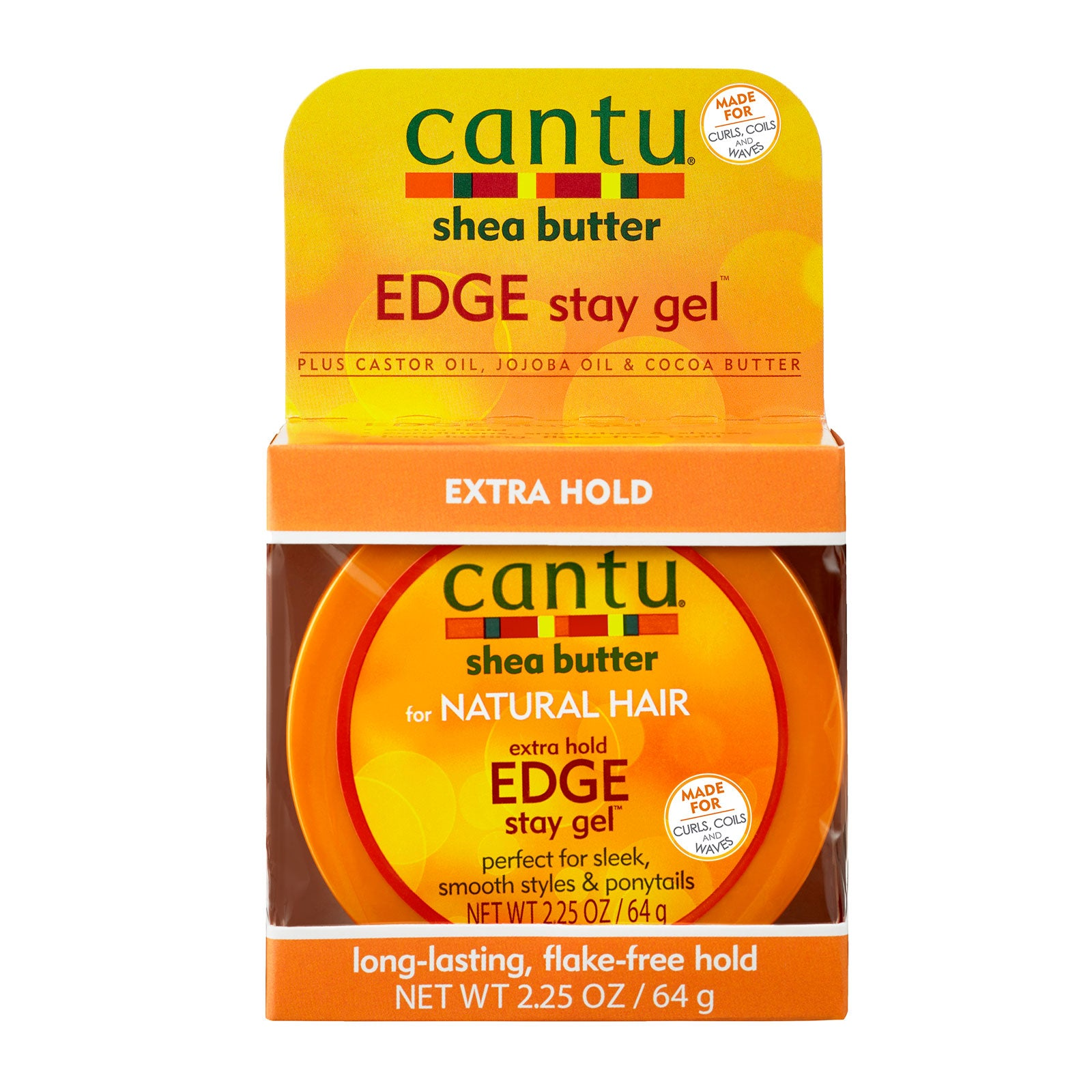 Cantu Shea Butter For Natural Hair Extra Hold Edge Stay Gel 64g