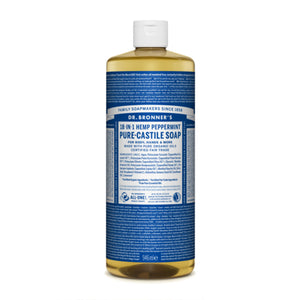 Dr Bronner's Organic Peppermint Castile Liquid Soap 946ml