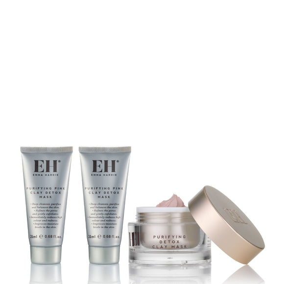 Emma Hardie Purifying Pink Clay Detox Mask Bundle