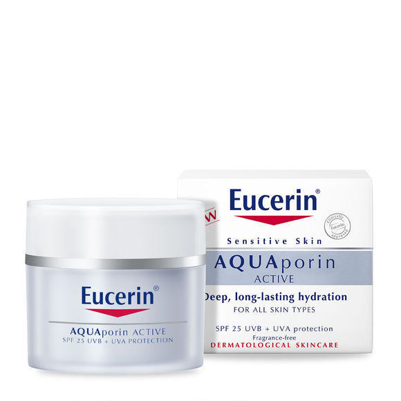 Eucerin AQUAPorin ACTIVE Hydration SPF25 UVB + UVA Protection 50ml