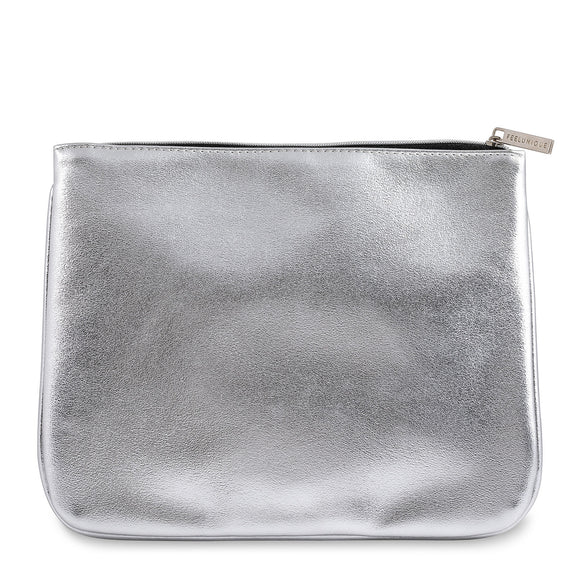 Feelunique Silver Metallic Beauty Bag