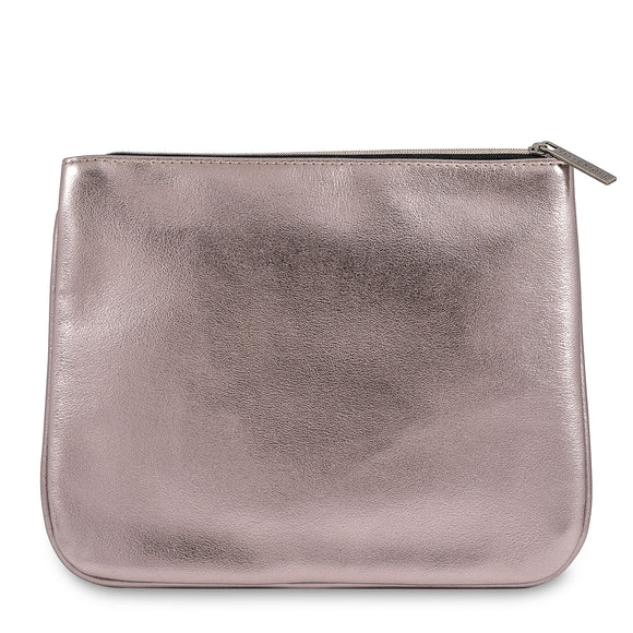 Feelunique Rose Gold Metallic Beauty Bag