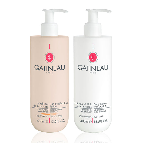 Gatineau Tan Accelerator & AHA Body Lotion Duo