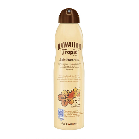 Hawaiian Tropic Satin Protection Continuous Spray Lotion SPF30 220ml
