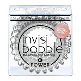 invisibobble The Strong Grip Hair Ring 3 Pack POWER Crystal Clear