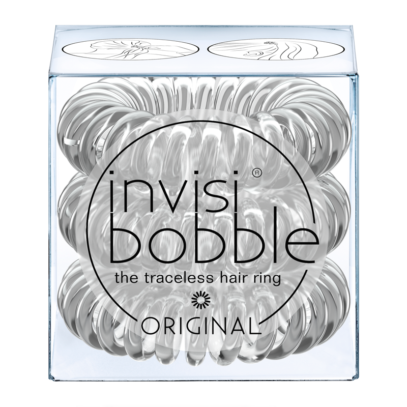 invisibobble The Traceless Hair Ring 3 Pack ORIGINAL Crystal Clear