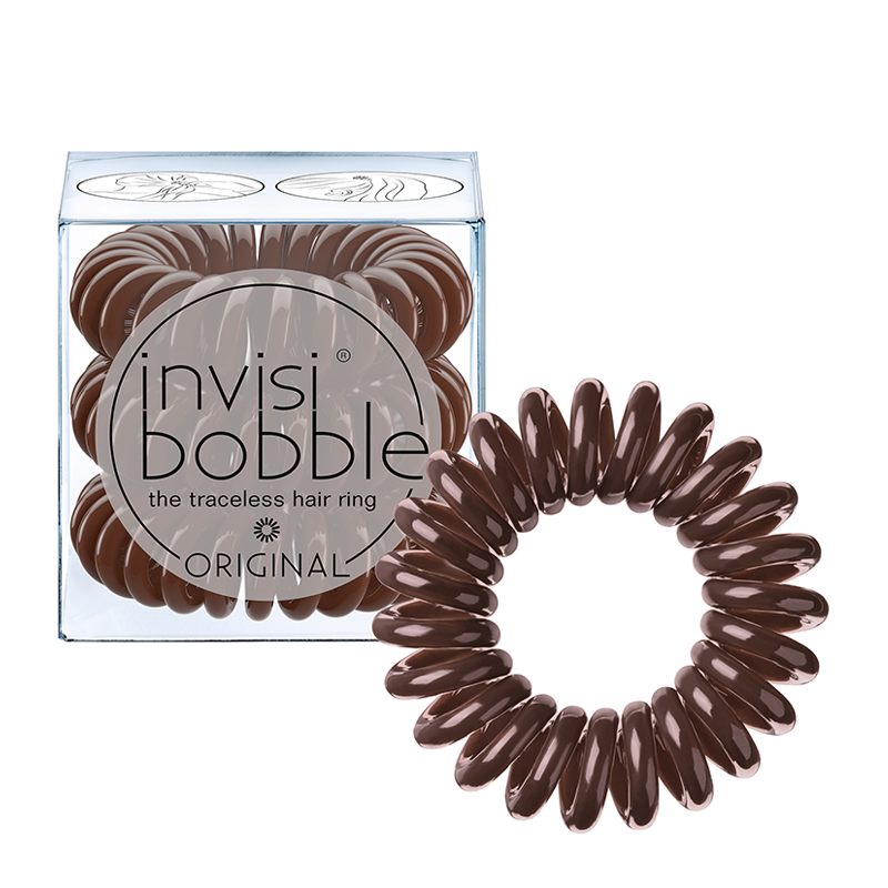 invisibobble The Traceless Hair Ring 3 Pack ORIGINAL Pretzel Brown