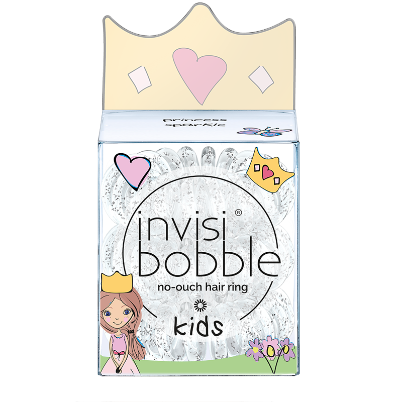 invisibobble® No-Ouch Hair Ring 3 Pack KIDS Princess Sparkle