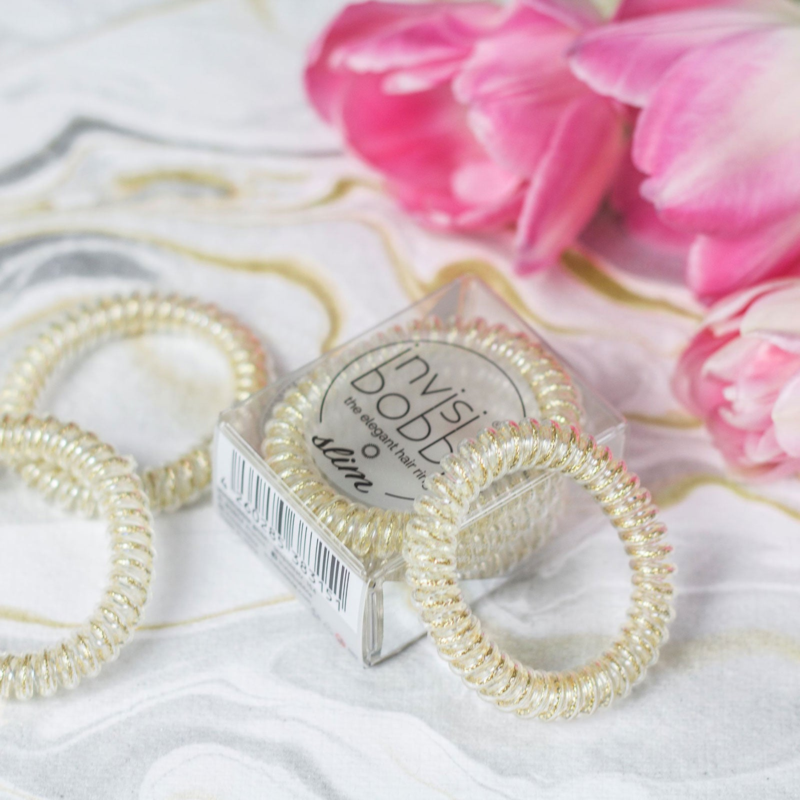 invisibobble® The Elegant Hair Ring 3 Pack SLIM Stay Gold