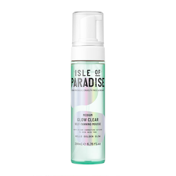 Isle of Paradise Glow Clear Self-Tanning Mousse Medium 200ml