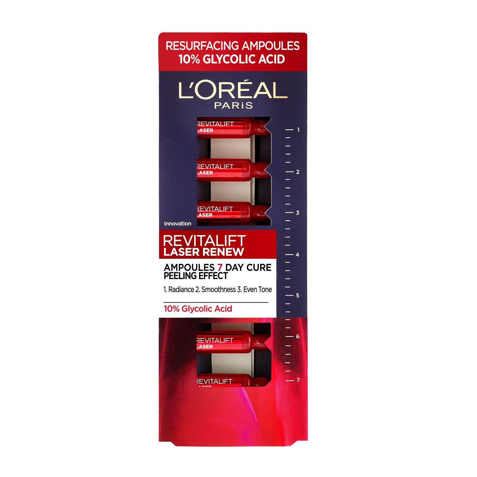 L'Oreal Paris Revitalift Laser 10% Glycolic Acid Peel Ampoules 7 x 1ml