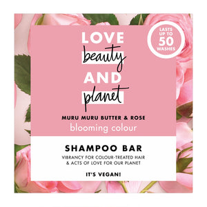 Love Beauty and Planet Blooming Colour Muru Muru Butter and Rose Shampoo Bar 90g