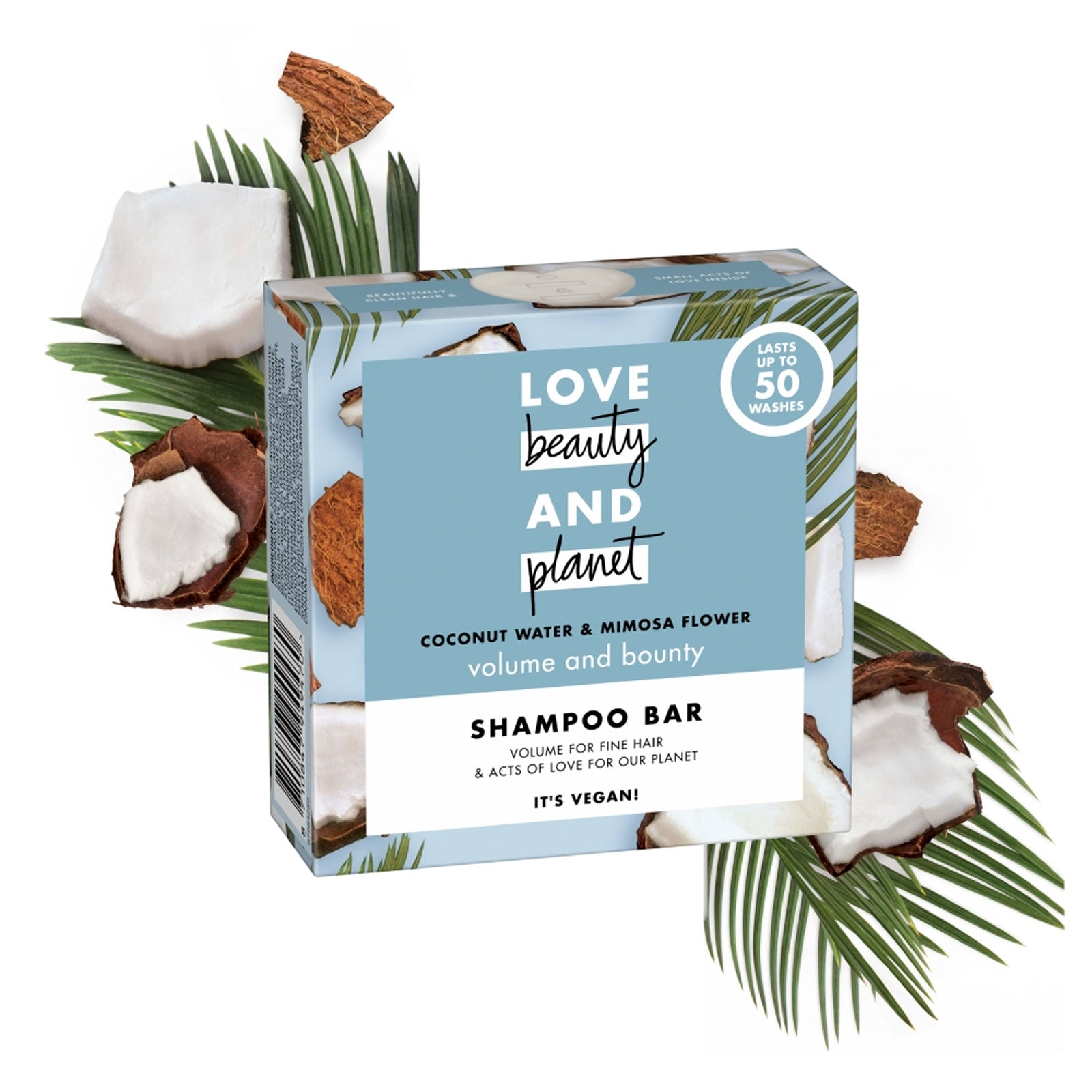 Love Beauty and Planet Volume & Bounty Coconut Water and Mimosa Flower Shampoo Bar 90g