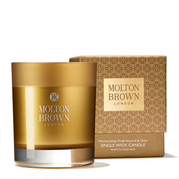Molton Brown Oudh Accord & Gold Single Wick Candle 180g
