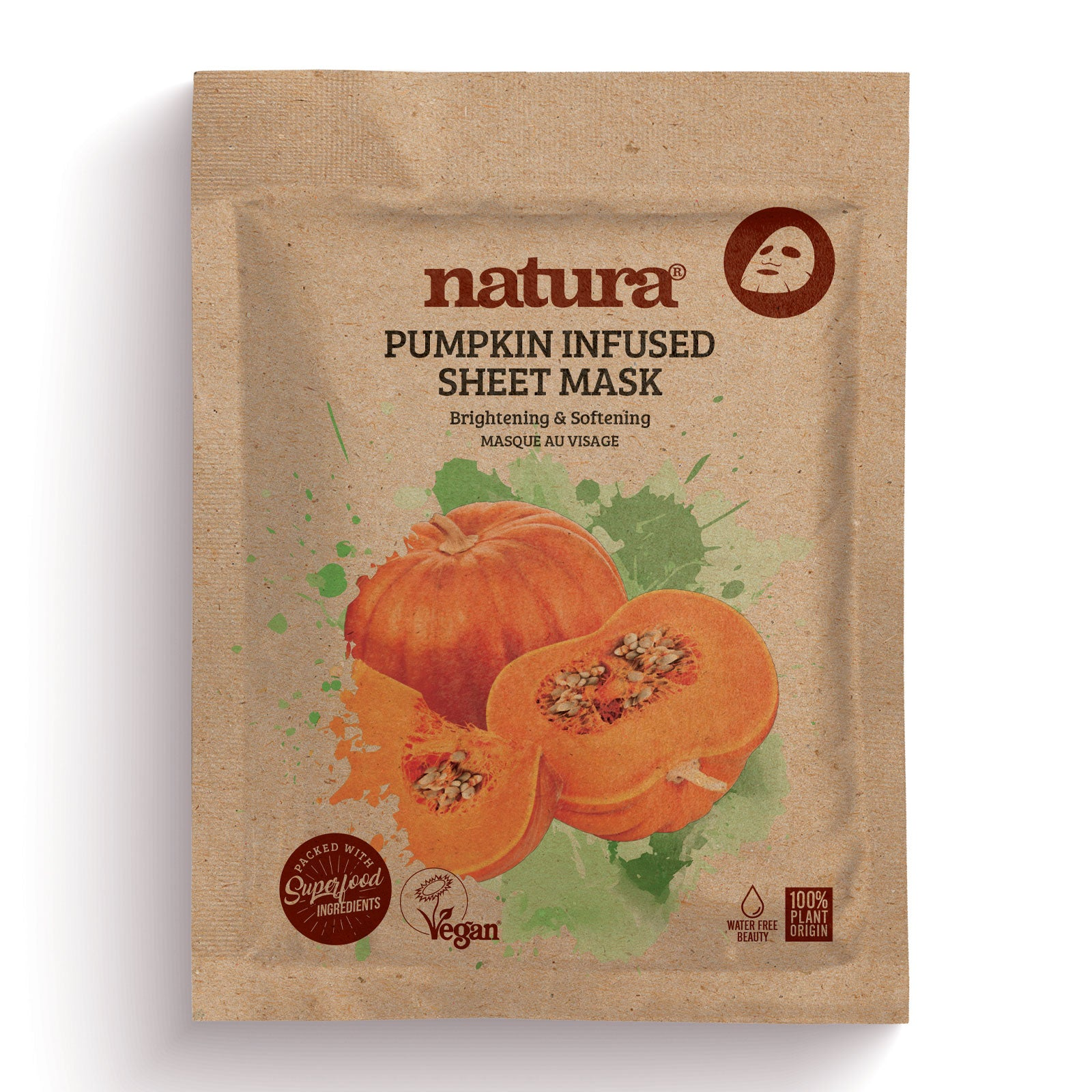 natura Pumpkin Infused Sheet Mask