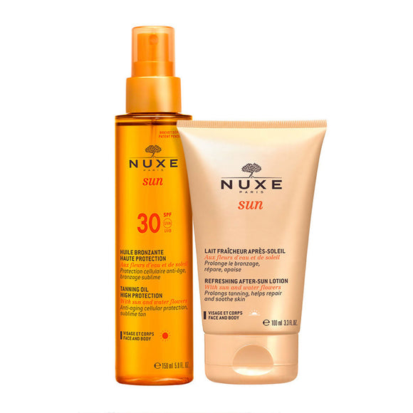 NUXE Sun Tanning Oil + After Sun Lotion Duo
