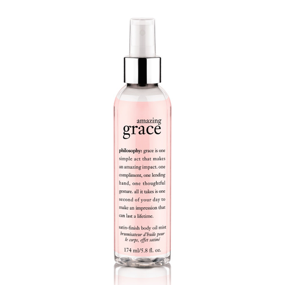 philosophy amazing grace satin-finish body oil mist 174ml