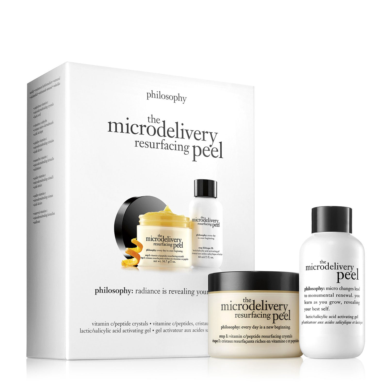philosophy microdelivery in-home vitamin c peptide peel 2pcs