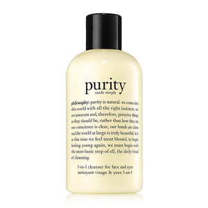 philosophy purity made simple cleanser for face & eyes 240ml
