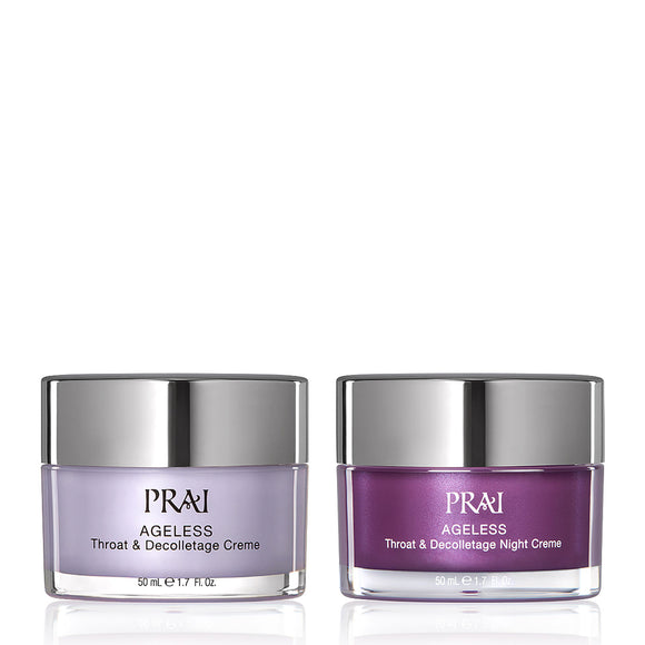 PRAI Beauty AGELESS Throat & Decolletage Day and Night Rescue Duo