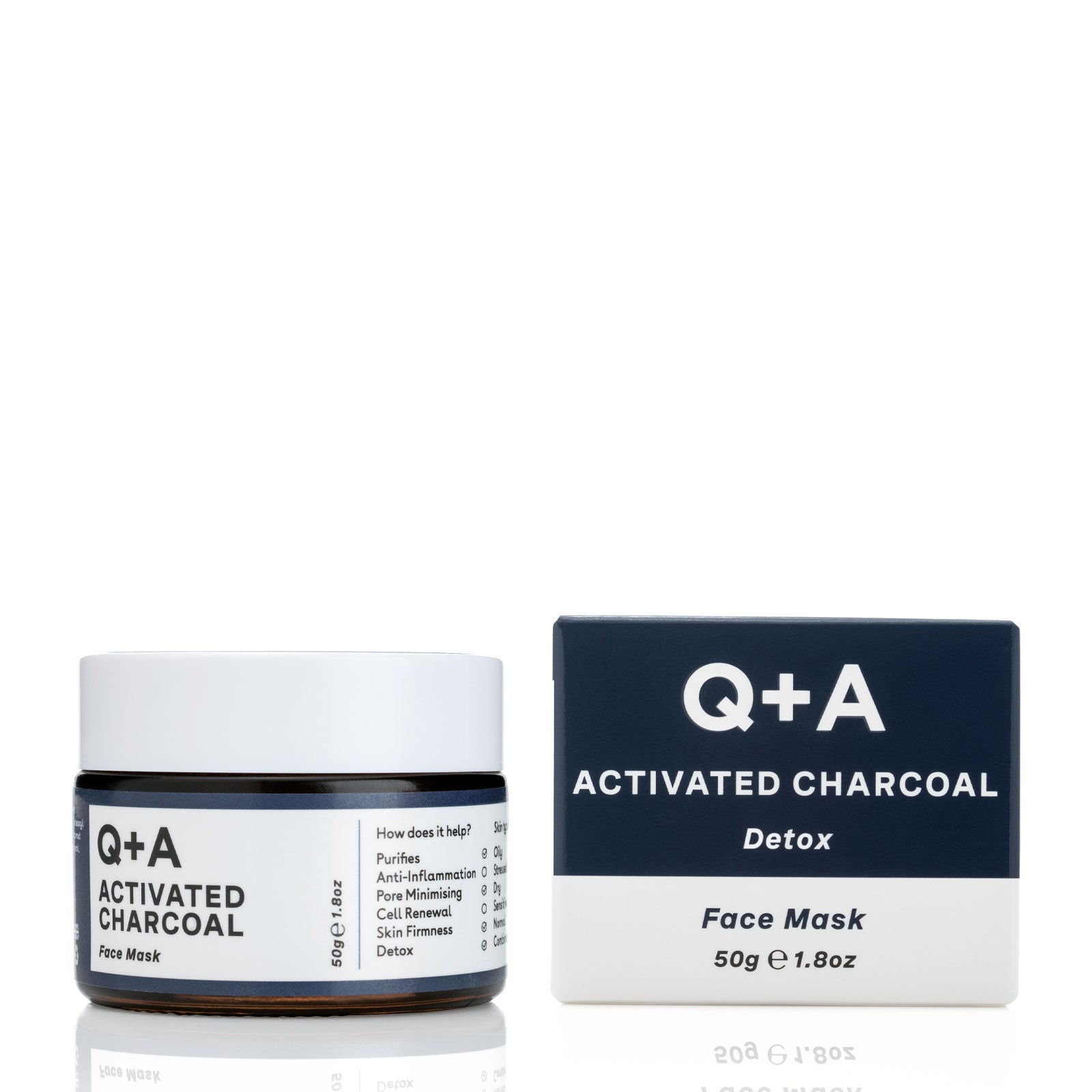 Q+A Activated Charcoal Face Mask 50g