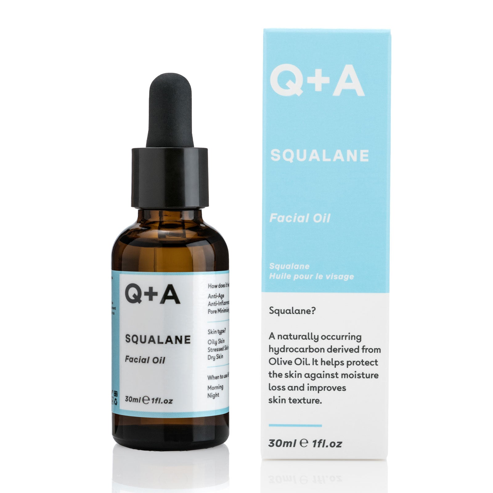 Q+A Squalane Facial Oil 30ml
