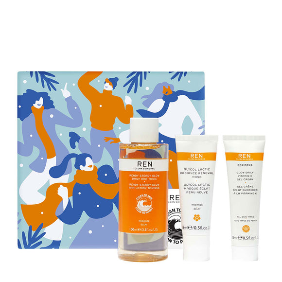 Ren Clean Skincare Glow To Go Trio