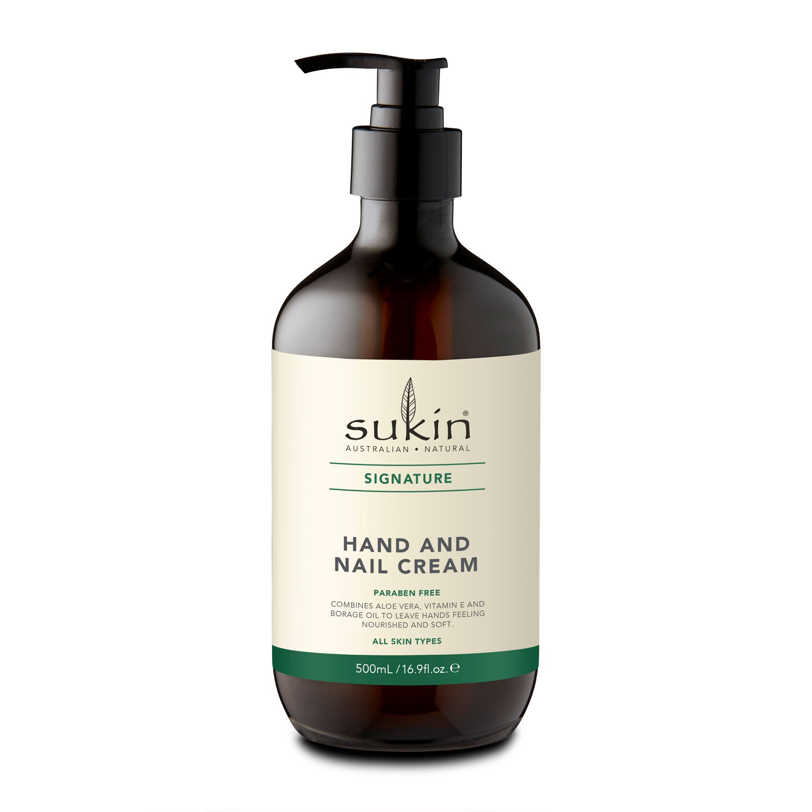 Sukin Hand & Nail Cream 500ml