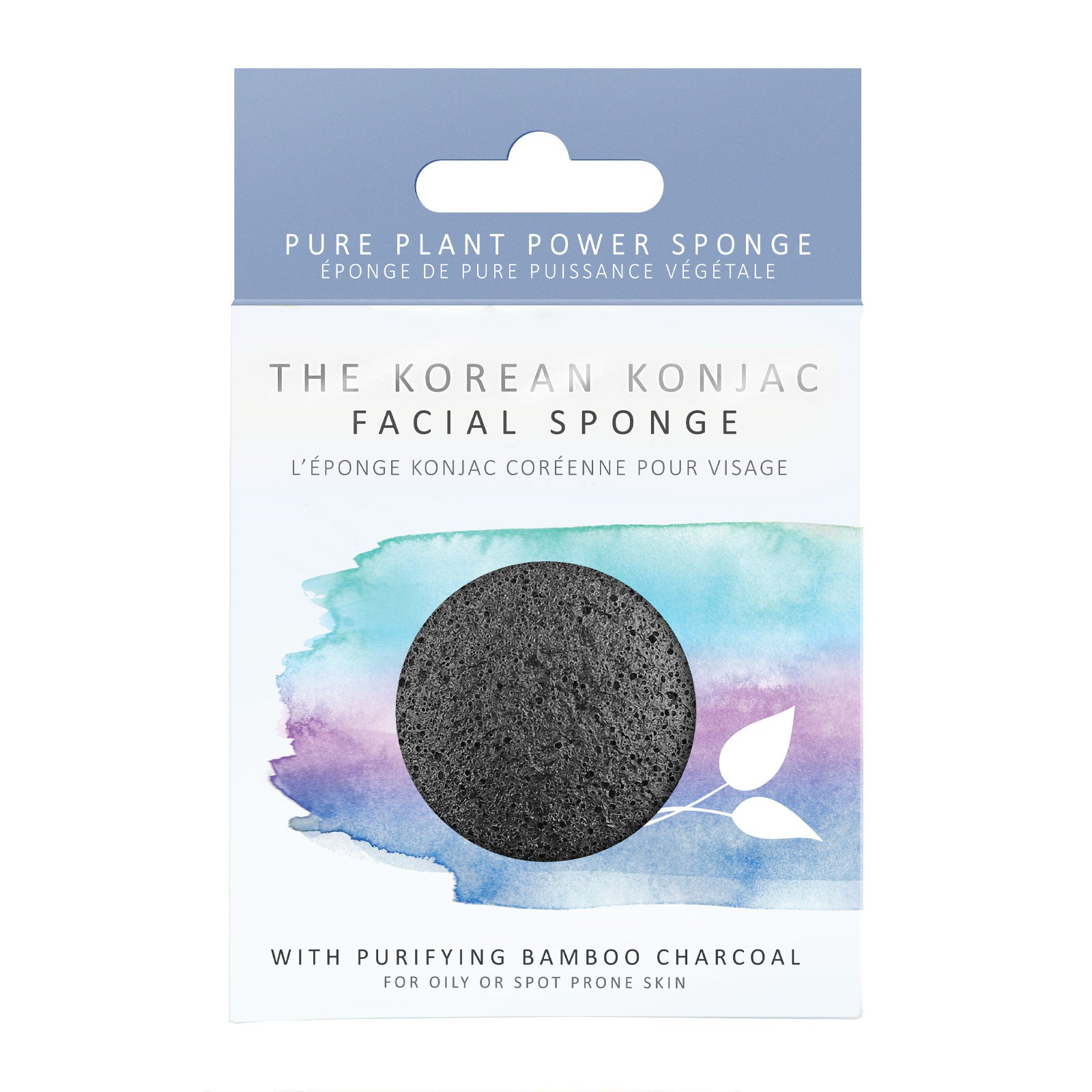 The Konjac Sponge Company 100% Natural Vegetable Fibre Sponge with Bamboo Charcoal