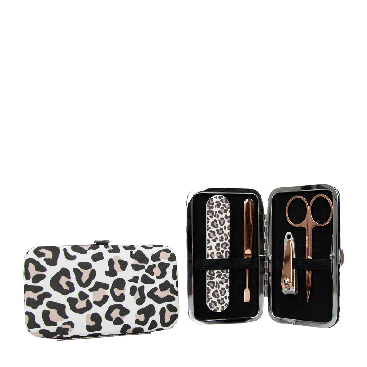 The Vintage Cosmetic Company Manicure Purse Leopard Print