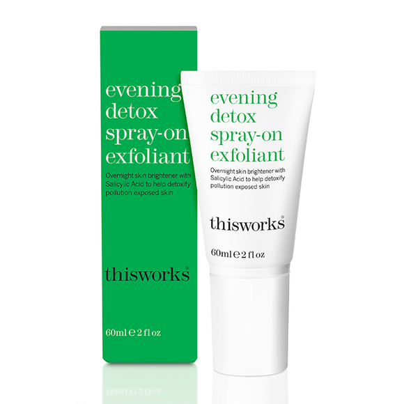 this works Evening Detox Spray-on Exfoliant 60ml