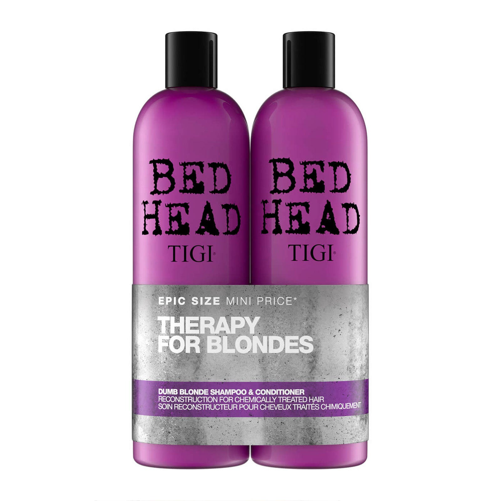 Bed Head by TIGI Dumb Blonde Shampoo & Reconstructor Tween Duo 2 x 750ml