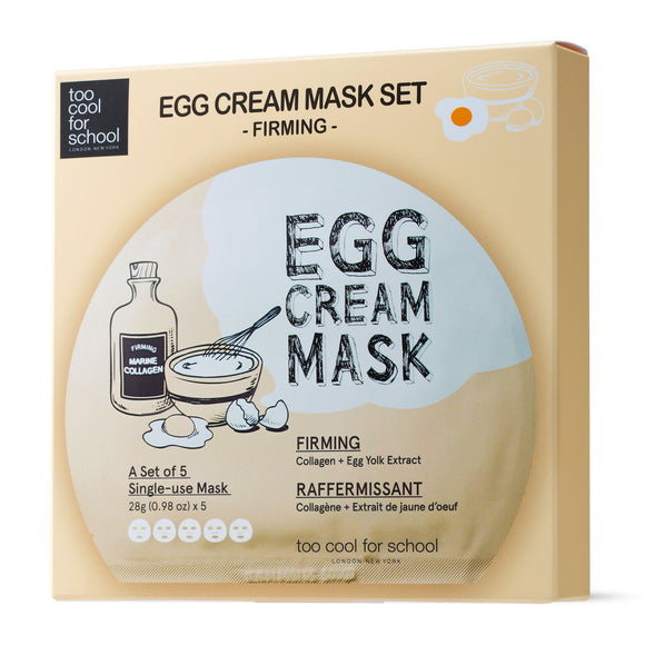 Too Cool For School Egg Cream Firming Mask x 5