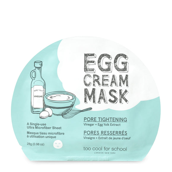 Too Cool For School Egg Cream Pore Tightening Mask x 5