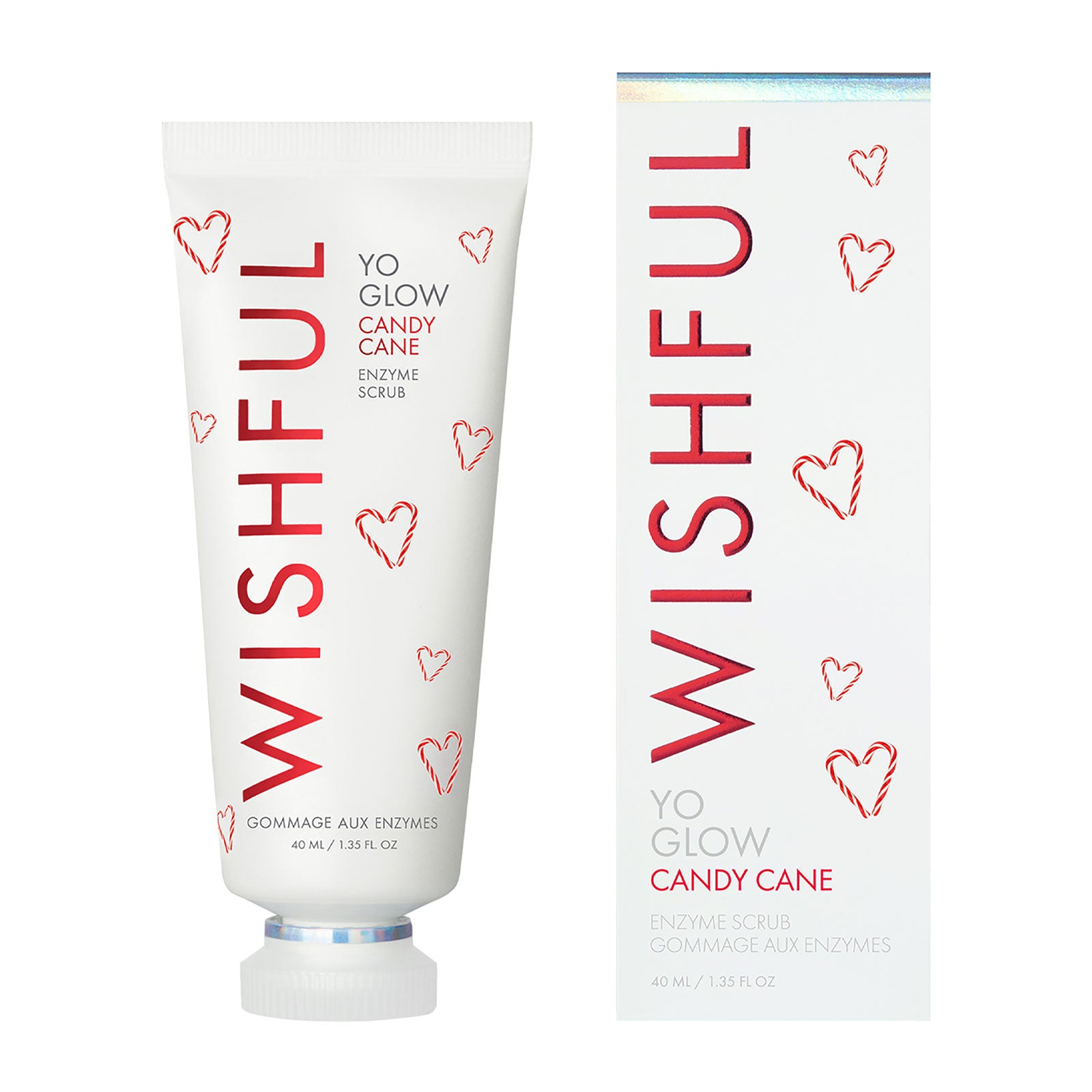 Wishful Yo Glow Candy Cane Enzyme Scrub 40ml