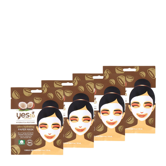 Yes To Coconut Paper Mask 4 Pack