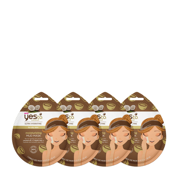 Yes To Coconuts Moisturizing Mud Mask 4 Pack