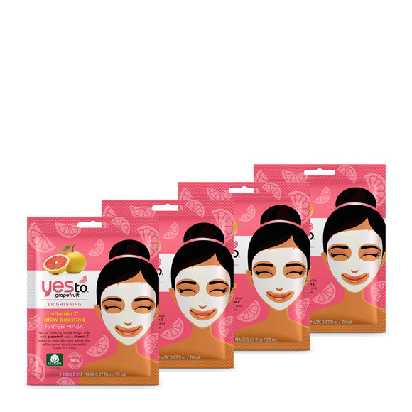 Yes To Grapefruit Paper Mask 4 Pack