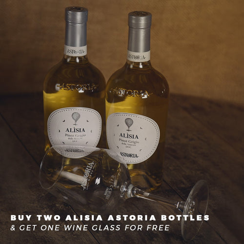 Astoria promotion with wine glass