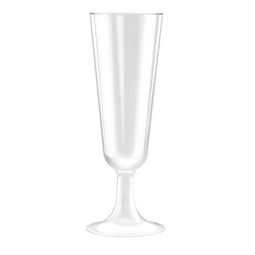 Champagne Glass Disposable X 20pcs with Tray