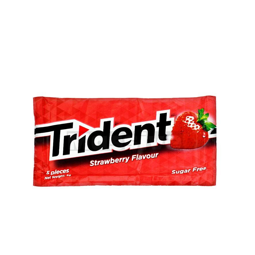 Trident Strawberry Sugar Free Gum 8g