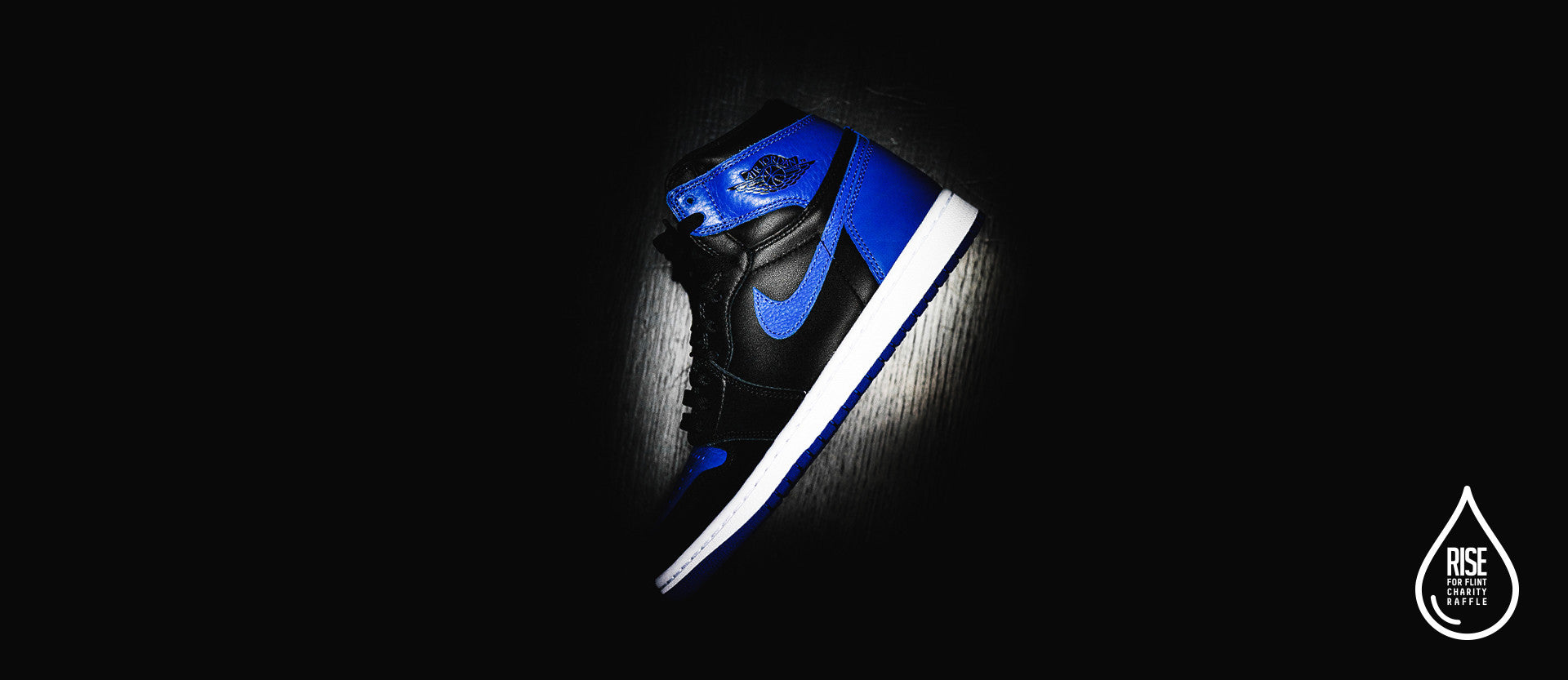 "RISE for Flint – Air Jordan 1 Retro High ""Royal"" Online Charity Raffle"