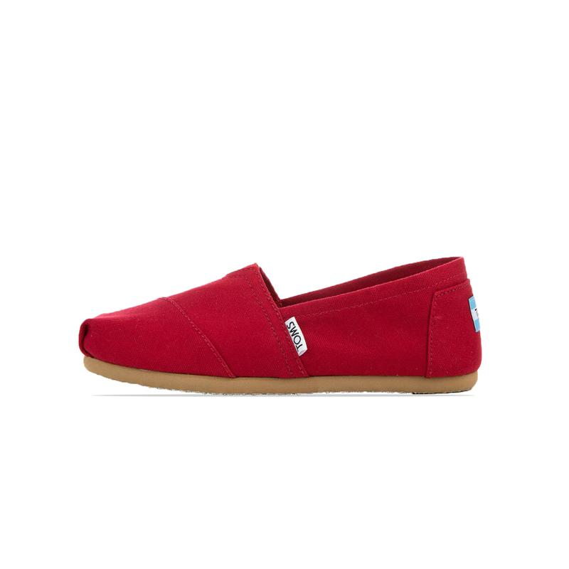 Toms Womens Canvas Red Classic Shoes